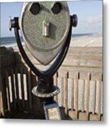 Folly Beach Pay Binoculars Metal Print