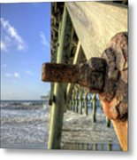 Folly Beach Pier Decay Metal Print
