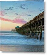 Folly Beach Sunrise Metal Print