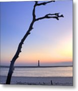 Folly Beach Sunrise Over Morris Island Metal Print