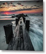 Folly Beach Tale Of Two Sides Metal Print