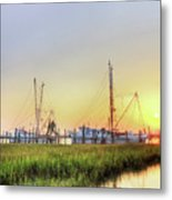 Folly Fishing Boats  Metal Print by Drew Castelhano