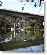 Folsom Bridge-watercolor Metal Print