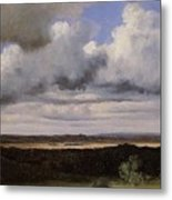 Fontainebleau Storm Over The Plains Jean-baptiste-camille Corot Metal Print
