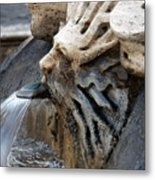 Fontana Della Barcaccia Sun Metal Print