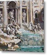 Fontana Di Trevi Rome Metal Print