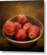 Food - Apples - A Bowl Of Apples  Metal Print