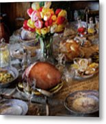 Food - Easter Dinner Metal Print by Mike Savad