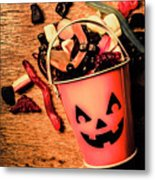 Food For The Little Halloween Spooks Metal Print