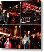 Food Street Beijing Metal Print