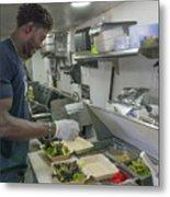 Food Truck Worker Metal Print