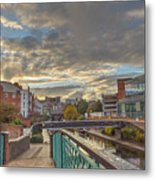 Foot Bridge At Gas Street Basin  Birmingham Metal Print