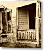 Foot Steps On The Front Porch  Metal Print