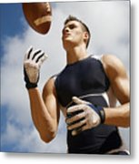 Football Athlete I Metal Print by Kicka Witte - Printscapes