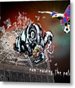 Football Derby Rams Against Crystal Palace Eagles Metal Print