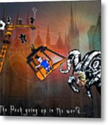 Football Derby Rams Against Peterborough Posh Metal Print
