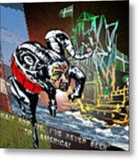 Football Derby Rams Against Plymouth Pilgrims Metal Print