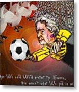 Football Derby Rams Against Swansea Swans Metal Print