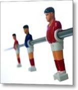 Football Figurines Metal Print