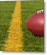 Football Short Of The Goal Line Close Metal Print