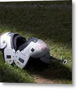 Football Shoulder Pads Metal Print