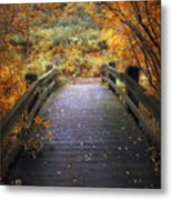 Footbridge Canopy Metal Print