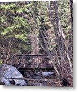 Footbridge In The Spring Metal Print
