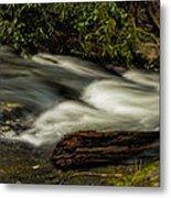 Footbridge Over Raging Moccasin Creek Metal Print