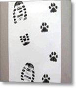 Footprints- Friends Metal Print