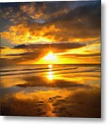 Footsteps  Beneath The Sunset I  Metal Print