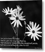 For God So Loved Black-eyed Susan Flower Metal Print
