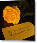 For My Love Metal Print