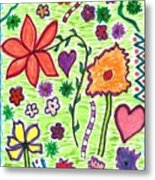 For The Love Of Flowers Metal Print