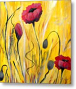 For The Love Of Poppies Metal Print
