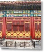 Forbidden City Building Detail Metal Print