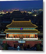 Forbidden City By Night Metal Print