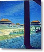 Forbidden City Porch Metal Print