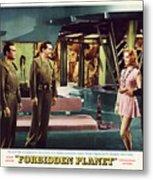 Forbidden Planet In Cinemascope Retro Classic Movie Poster Indoors Metal Print