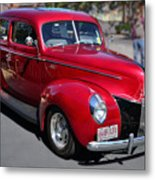 Ford 40 In Red Metal Print