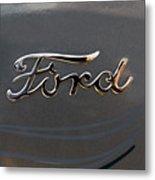 Ford Antique Auto Emblem Metal Print