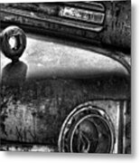 Ford Broken Headlamp Metal Print by Barry C Donovan