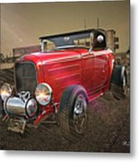 Ford Coupe Cartoon Photo Abstract Metal Print
