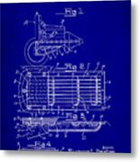 Ford Engine Lubricant Cooling Attachment Patent Drawing 1c Metal Print