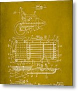 Ford Engine Lubricant Cooling Attachment Patent Drawing 1d Metal Print