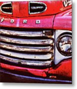 Ford Grille Metal Print by Michael Thomas