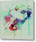 Ford Gt Top Watercolor  Metal Print by Naxart Studio