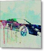 Ford Gt Watercolor 2 Metal Print by Naxart Studio