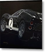 Ford Gt40 Racing Metal Print