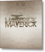 Ford Maverick Badge Metal Print