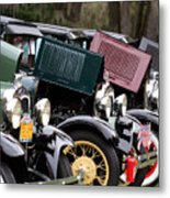 Ford Model A Line Up Metal Print